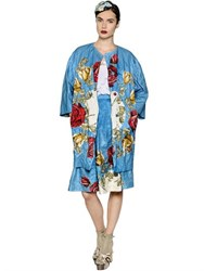 Antonio Marras Floral Metallic Techno Brocade Coat