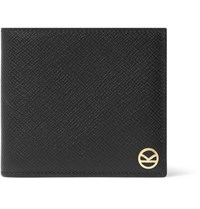 Kingsman Smythson Panama Cross Grain Leather Billfold Wallet Black