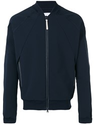 Adidas Originals Pleated Back Bomber Jacket Blue