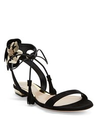 Sebastian Flower Blossom Sandals Black