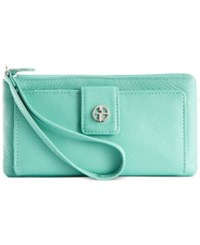 Giani Bernini Softy Leather Medium Grab And Go Wallet And Wristlet Only At Macy's Deep Green