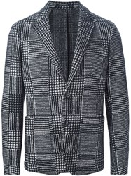 Jeordie's Checked Blazer Black