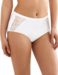 Bali Desire Lace Cotton Briefs White