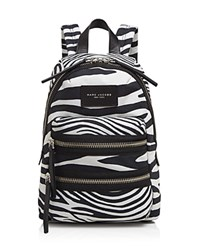 Marc Jacobs Zebra Print Biker Mini Backpack Off White Multi