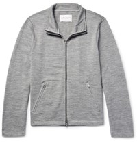 Our Legacy Melange Wool Zip Up Cardigan Gray