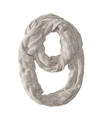 Echo Msoft Pointelle Infinity Ring Light Grey Heather Scarves Gray