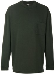 Yeezy Crew Neck Sweatshirt Cotton S Green
