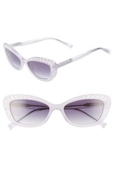 Kendall Kylie Extreme 55Mm Cat Eye Sunglasses Lavender