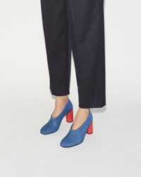 Acne Studios Amy Denim Pump Blue And Red