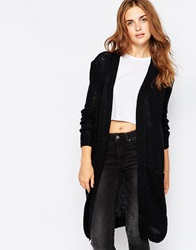 Blend She Longline Cardigan With Pockets Black