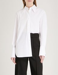 Moandco. Oversized Stretch Cotton Shirt Snow White