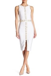 Wow Couture Chain Link Dress White