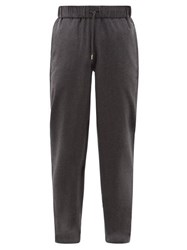 A.P.C. Straight Leg Cotton Blend Trousers Grey