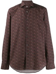 Dell'oglio Dot Patterned Shirt Purple