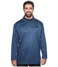 The North Face Tech Glacier 1 4 Zip 3Xl Shady Blue Men's Clothing
