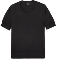 Tom Ford Knitted Cotton T Shirt Black