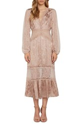 Willow And Clay Women's Lace Midi Dress Ballet