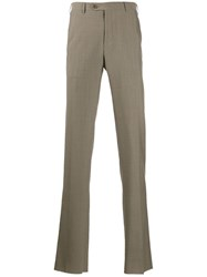 Corneliani Straight Leg Trousers Neutrals