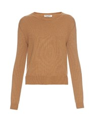 Valentino Long Sleeved Cashmere Sweater Camel