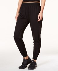 Jessica Simpson The Warm Up Mesh Inset Jogger Pants Only At Macy's Black Black