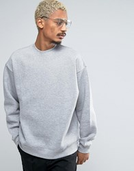Weekday Big Steve Sweatshirt 07 101 Mel H111cy Grey