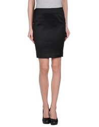 Versace Jeans Couture Knee Length Skirts Black
