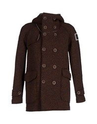 Swiss Chriss Coats And Jackets Coats Men Brown
