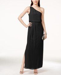 Adrianna By Adrianna Papell One Shoulder Chiffon Draped Gown