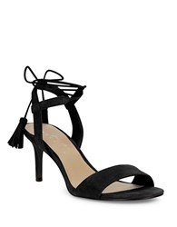424 Fifth Giovanna Suede Sandals Black