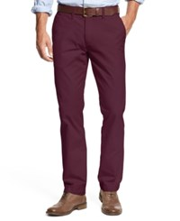 Tommy Hilfiger Men's Slim Fit Chino Pants Tawny Port