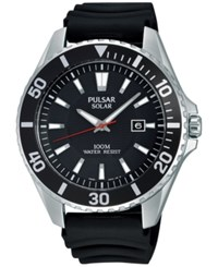 Pulsar Men's Solar Sport Black Strap Watch 44Mm Px3037 No Color