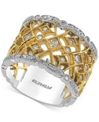 Effy Duo By Diamond Two Tone Ring 3 4 Ct. T.W. In 14K Gold And White Gold Two Tone