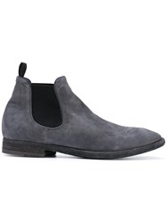 Officine Creative Princeton Boots Men Calf Leather Leather Calf Suede 42 Grey