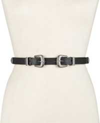 Inc International Concepts Double Buckle Western Belt Only At Macy's Black