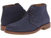 Aquatalia By Marvin K Carlos Blue Suede Gum Bottom Men's Lace Up Boots Navy