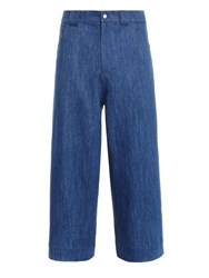Craig Green Wide Leg Jeans Blue