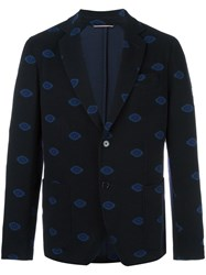 Roda Notched Lapel Blazer Blue