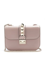 Valentino Lock Small Leather Shoulder Bag Nude