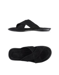 Doucal's Sandals Black