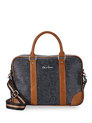 Robert Graham Paisley Faux Leather Briefcase Black