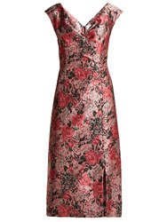 Erdem Joyti Floral Jacquard Dress Pink Multi