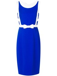 Capucci Fitted Bow Dress Blue