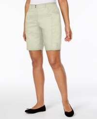 Karen Scott Petite Side Tie Shorts Only At Macy's Stonewall
