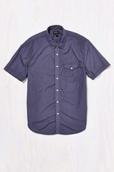Cpo Garment Washed Poplin Button Down Shirt Dark Grey