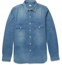 Chimala Denim Western Shirt Mid Denim