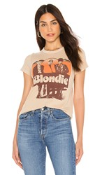 Junk Food Blondie Sunrise Tee In Brown. Camel