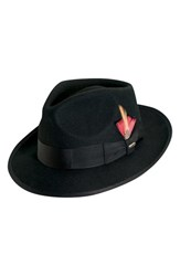 Scala Men's 'Classico' Wool Felt Snap Brim Hat Black