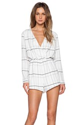 The Fifth Label Party Talk Playsuit White