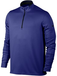 Nike Men's Dri Fit Half Zip Jumper Blue