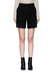 Mo And Co. Edition 10 Relaxed Fit Felt Shorts Black